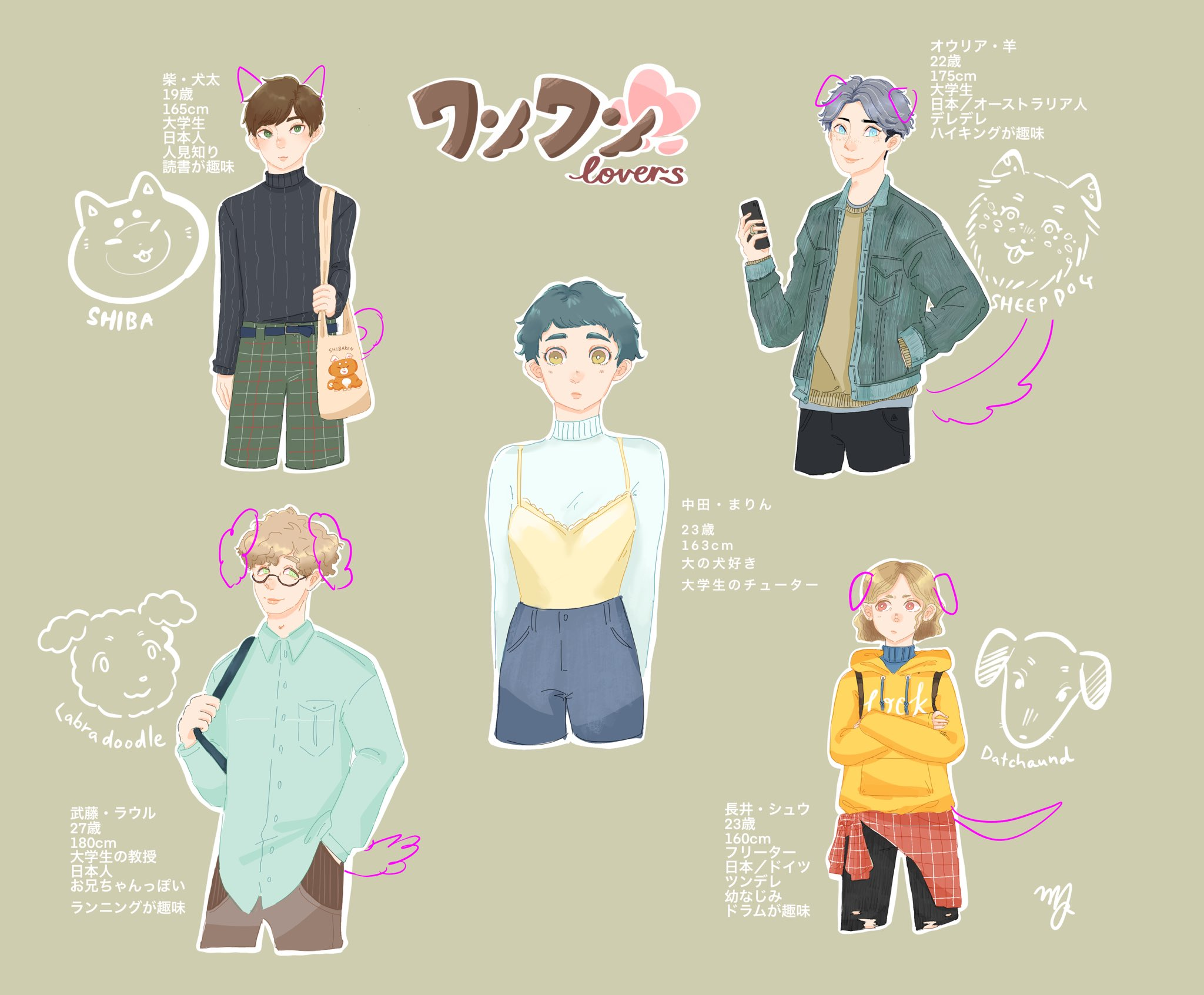 Otome Game Character Design