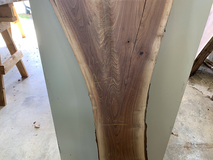 Kiln Dried Black Walnut Live Edge Slab