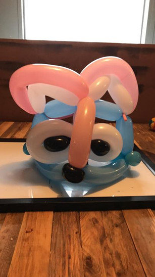 Balloon animal hat made for the day.jpg
