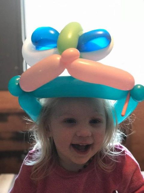 Rivers balloon hat with eyes Imade last