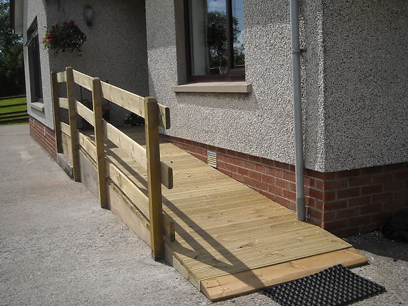 Wheelchair Ramp fitted to front of home-