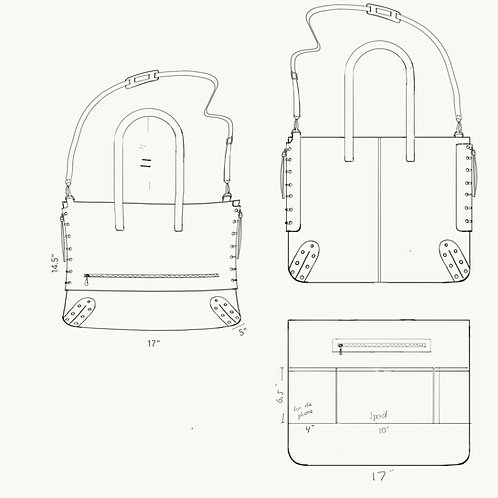 Custom black suede bag