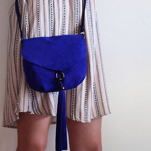 Alice. Cobalt blue crossbody purse
