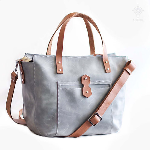 Tiberis M. Gray beige crossbody tote
