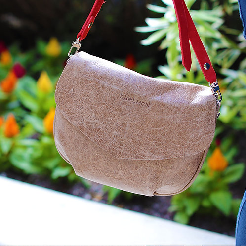 1.Alice Taupe leather bag