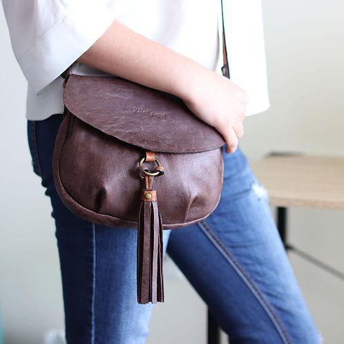 Alice S&M sizes. Chocolate lamb crossbody purse