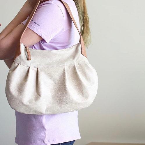6.Ivory bone hobo bag