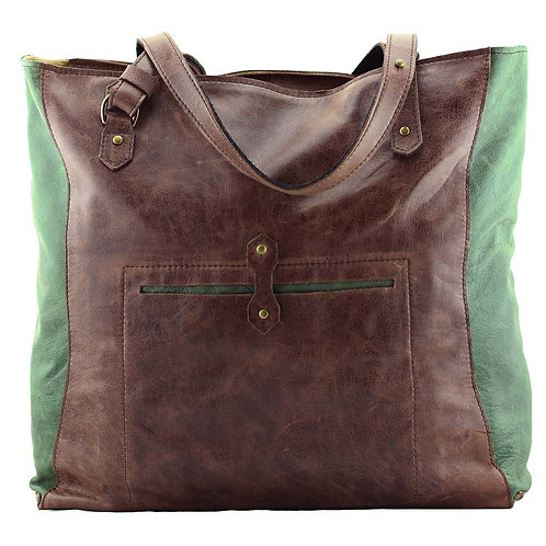 Real fine leather tote bag Gideon