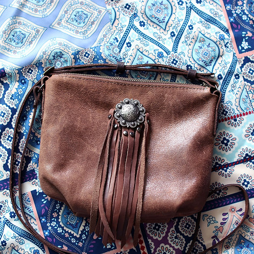 Borla genuine leather crossbody bag by Khelman