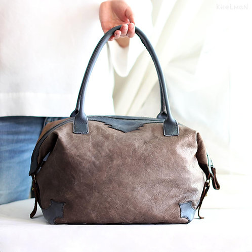 Wanderer. Blue Gray duffle tote bag