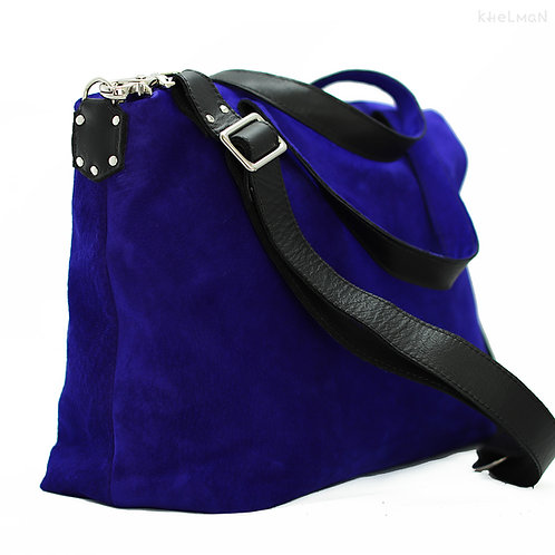 Ashby. Crossbody suede tote bag