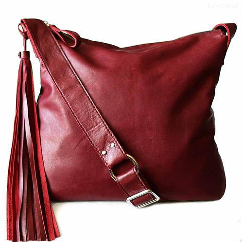 Soho. Wine leather crossbody bag