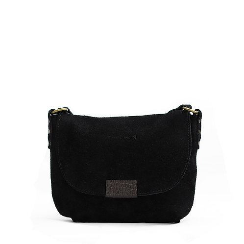 Amy real suede leather cross body purse by Khelman