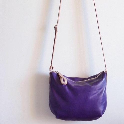 Borla. Violet lamb crossbody bag