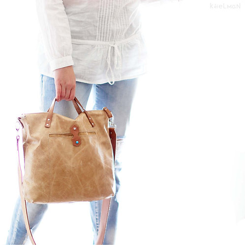 Austin. Distressed leather tote bag