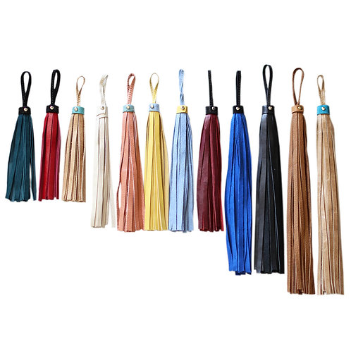Leather and suede tassels