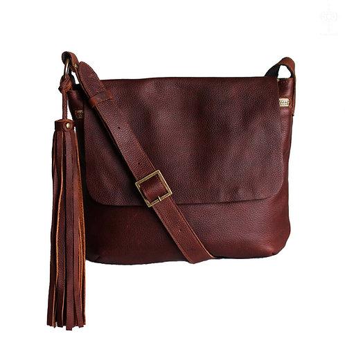 Fargo M&L size. Rustic brown crossbody bag