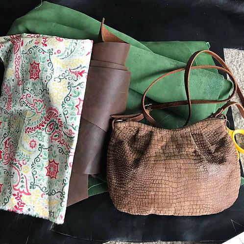 4.Green suede Venta bag