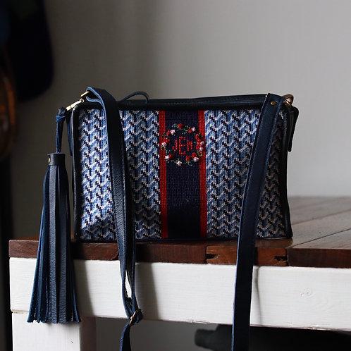 Custom needlepoint bag for Jill
