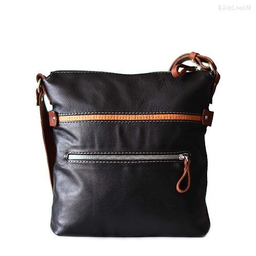 Somerset. Black lamb crossbody bag