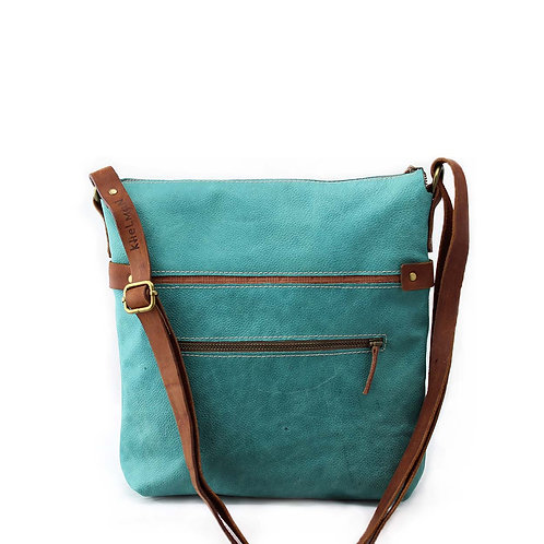 Somerset turquoise leather cross body bag