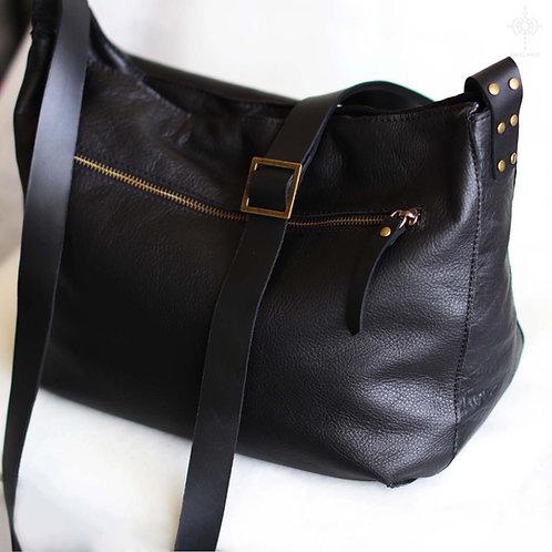 Marley. Black leather crossbody bag