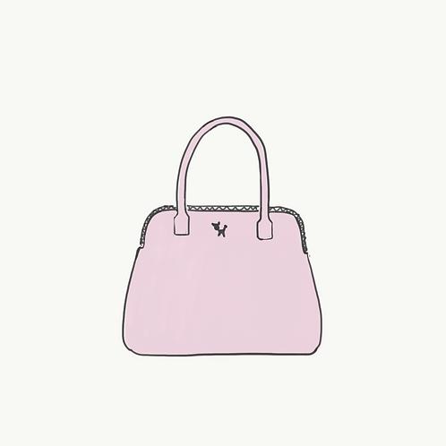 10. Nude pink tote bag