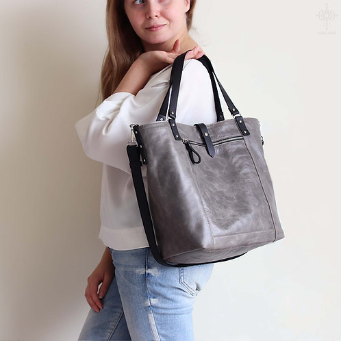 Niten. All catch leather tote bag