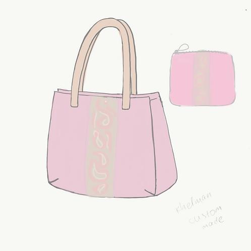 Custom pink tote