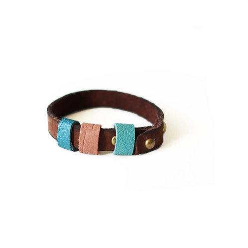 Genuine nubuck leather bracelet