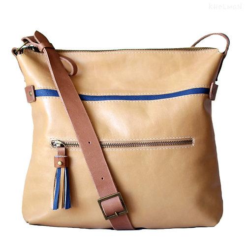 Soho casual tan leather bag