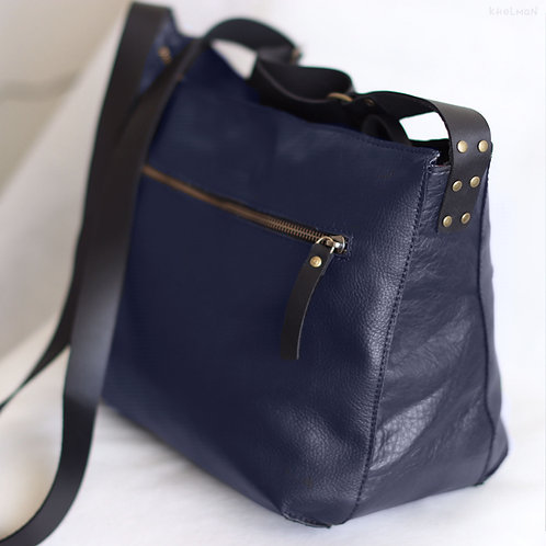 Marley. Juicy navy blue leather crossbody bag