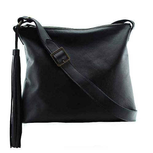 Soho is a crossbody bag with a removable leather tassel