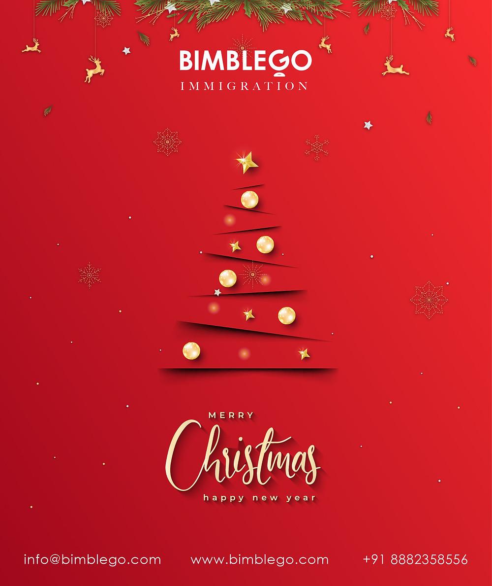 Wishing Everyone a MERRY CHRISTMAS . #merrychristmas #bimblego #canada  #christmas #student #haryana #delhi #gurgaon #immigrationconsultant