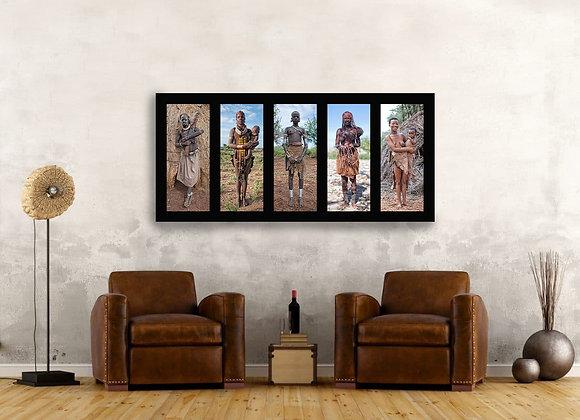 Foto op dibond van 'Tribes of Africa'