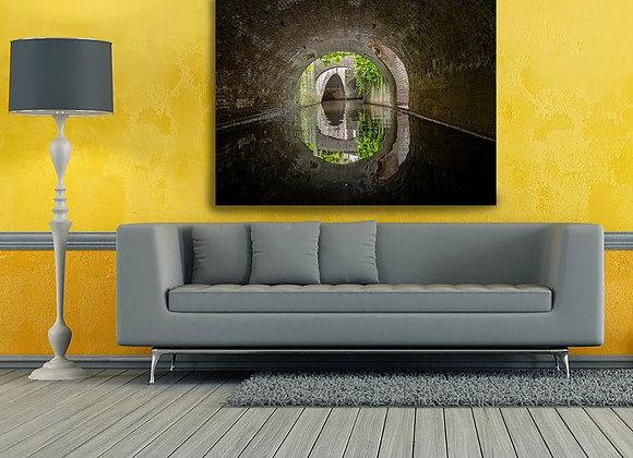 Foto op dibond van de Binnendieze in Den Bosch