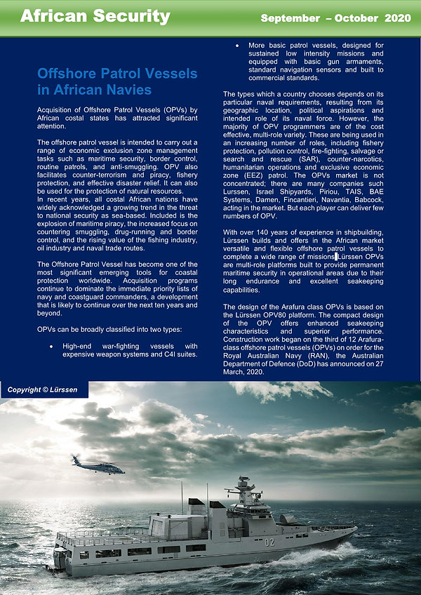 2P. Offshore Patrol Vessels  in African