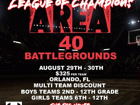 League Of Champions   AREA 40 Battlegrounds