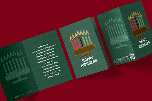 Happy Kwanzaa (kinara)