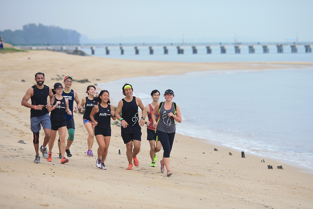 Claire McFarlane running in Singapore for Footsteps To Inspire to peacefully end sexual violence
