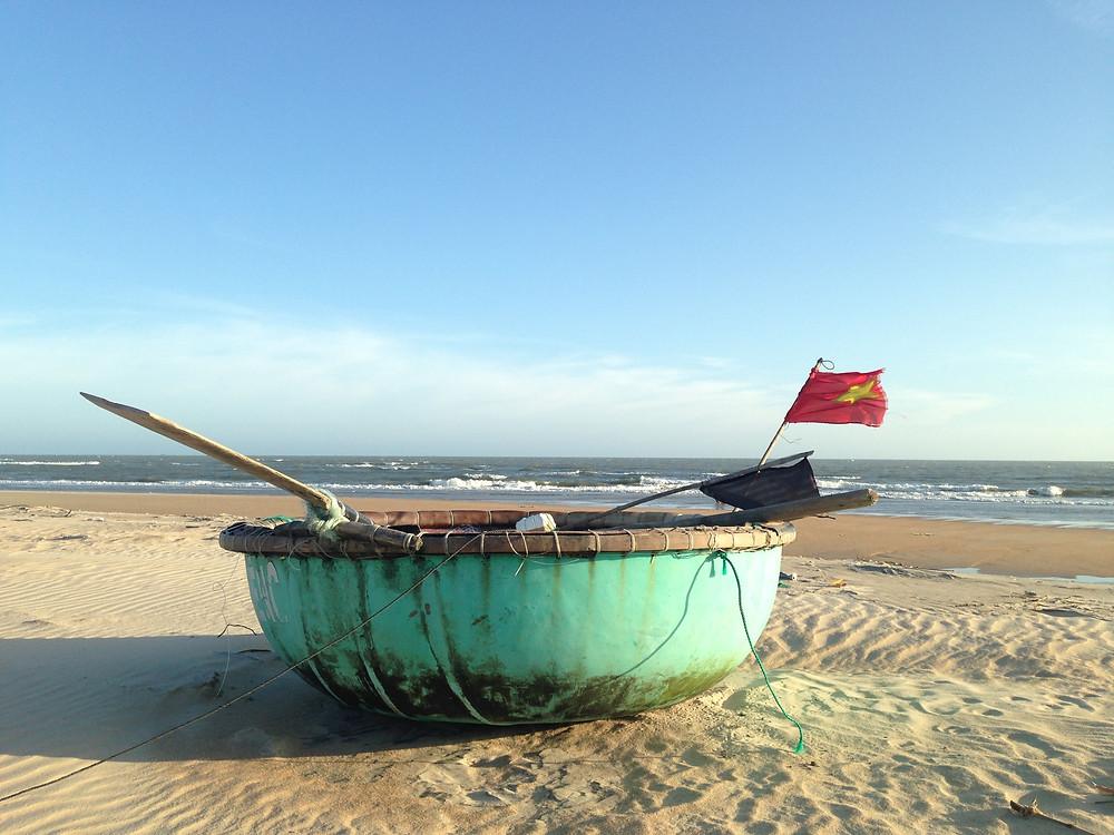 Footsteps To Inspire in Vietnam beach running