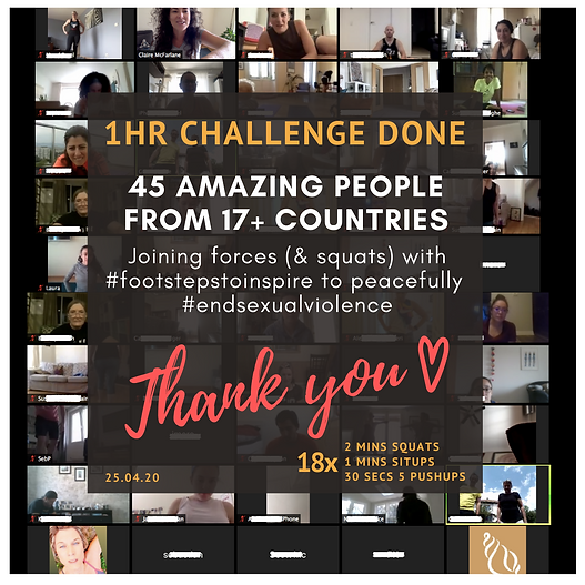 We did it! The Stay At Home Challenge was awesome