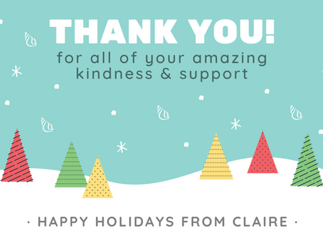 Happy Holidays & thank you for your amazing support!