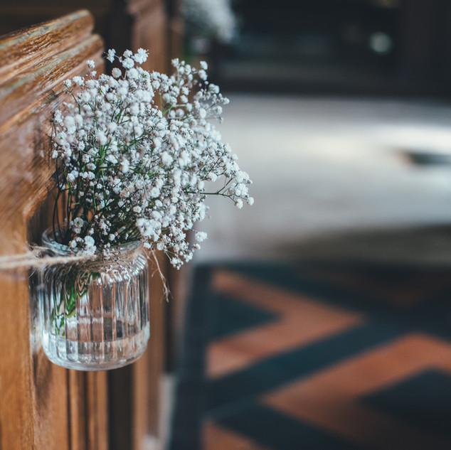 Fiori in un vaso di vetro