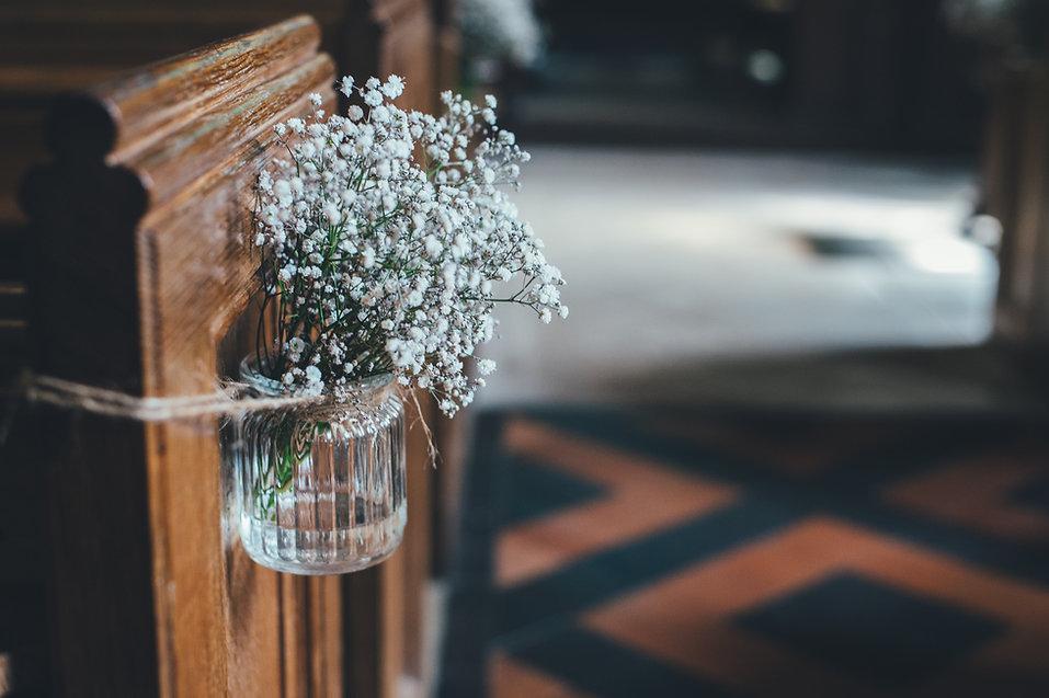 ガラスの瓶での花
