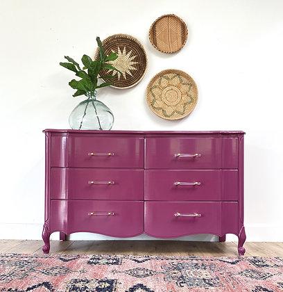 """ BUY NOW   Deep Dark Pink Dresser - 52"""" long x 19"""" deep x 32"""""""