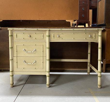 " CUSTOMIZE  Faux Bamboo Desk - 46-1/2"" long x 19"" deep x 30"" tall"