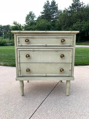 """{CUSTOMIZE} Ficks Reed Faux Bamboo Nightstand - 24"""" L x 18"""" D x 26-1/4"""" T"""