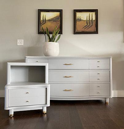 " BUY NOW  MCM Dresser & Nightstand- 56"" long x 20"" deep x 34"" tall"
