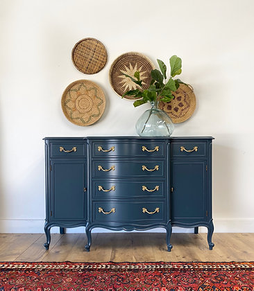 "|BUY NOW| Drexel Navy Blue Sideboard - 52"" long x 20"" deep x 34"" tall"